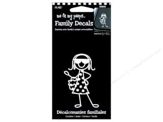 Rub-Ons Decals: Plaid Peeps Family Decals Fashionista Girl