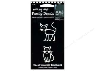 "Decals 12"": Plaid Peeps Family Decals Cats"