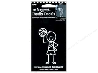 Rub-Ons $3 - $4: Plaid Peeps Family Decals Basketball Boy