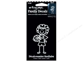 Craft & Hobbies Family: Plaid Peeps Family Decals Basketball Girl