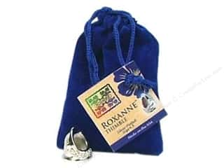 Sewing Gifts & Gift Notions: Roxanne Thimble Sterling Silver Plated Size 4.5