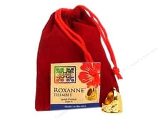 Sewing Gifts & Gift Notions: Roxanne Thimble 14K Gold Plated Size 4