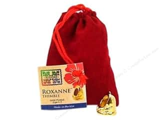 stress glove: Roxanne Thimble 14K Gold Plated Size 4.5
