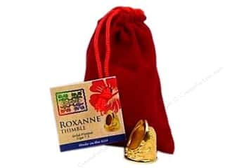 stress glove: Roxanne Thimble 14K Gold Plated Size 7.5