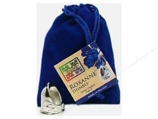 stress glove: Roxanne Thimble Sterling Silver Plated Size 8