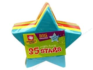 26-gauge floral wire: Fibre-Craft Foam Shapes Big Stars Multi 35pc
