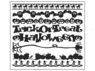 Bazzill Cardstock Just the Edge 12&quot; Halloween 16pc