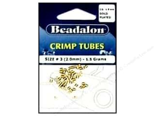Beadalon Crimp Tube 2mm Gold 1.5gm