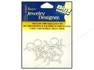 Darice JD Clasps Toggle Set 12mm Silver 8pc