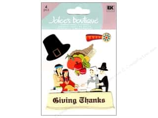 Fall / Thanksgiving EK Sticko Stickers: Jolee's Boutique Stickers Pilgrim And Native Americans