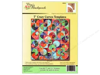 "Elisa's Backporch Design Quilting Templates / Sewing Templates: Elisa's Backporch Templates 7"" Crazy Curves"