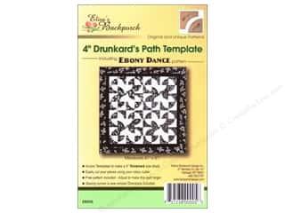 "Templates Clearance Patterns: Elisa's Backporch Templates 4"" Drunkards Path"