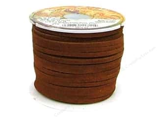 Leather Factory Suede Lace 1/8&quot;x25yd Medium Brown (25 yards)