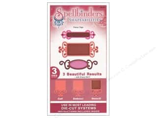 Clearance Spellbinders Presto Punch Template: Spellbinders Shapeabilities Die Fancy Tags One