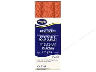 Wrights Flexi-Lace Hem Facing Carrot 2 1/2 yd.