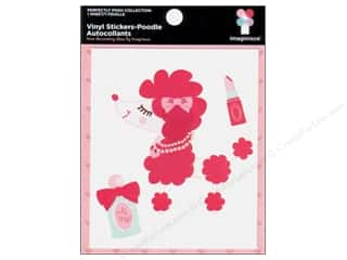 Imaginisce Sticker Perfectly Posh Vinyl Poodle