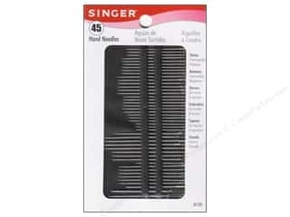 Singer Needles, Pullers, Cases & Threaders: Singer Notions Hand Needle Assorted Size 45pc