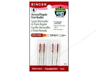Needles / Machine Needles $3 - $4: Singer Regular Point Machine Needles Universal Size 11 4 pc.