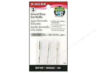 Singer Needles / Machine Needles: Singer Regular Point Machine Needles Universal Size 18 3 pc.