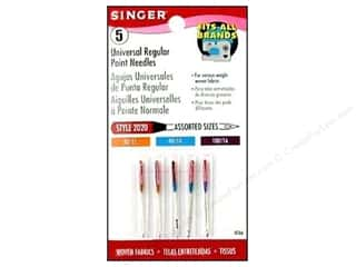 Singer Needles / Machine Needles: Singer Regular Point Machine Needles Universal Size 11/14/16 5 pc.