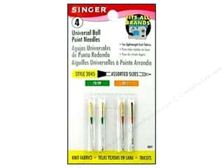 Singer Needles / Machine Needles: Singer Machine Needle Ball Point Size 9/11 4pc