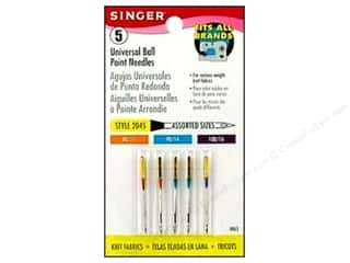 Singer Needles / Machine Needles: Singer Machine Needle Ball Point Size 11/14/16 5pc