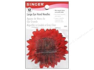 Singer Hand Needles Large Eye w/Mag Holder 12pc