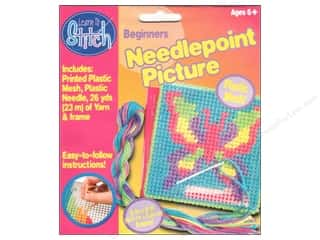Colorbok Yarn & Needlework: Colorbok Learn To Stitch Kit Needlepoint Butterfly