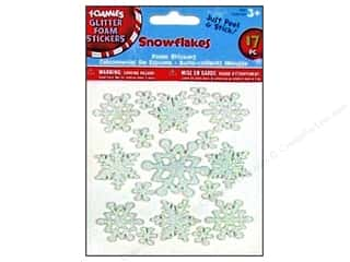 Outdoors Basic Components: Darice Foamies Sticker Snowflakes 17pc