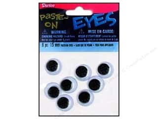 Darice Eyes Paste On Moveable 15mm Black 8pc (3 packages)