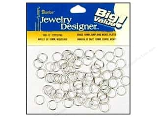 Spring Beading & Jewelry Making Supplies: Darice Jewelry Designer Jump Rings 10mm Nickel Plate Brass 72pc