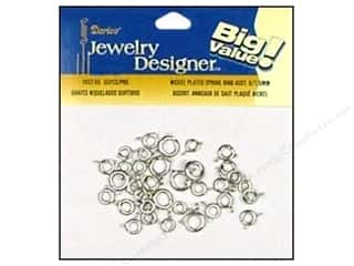 Finishes $6 - $7: Darice Jewelry Designer Clasps Spring Ring 6/7/9mm Assorted Nickel 35pc