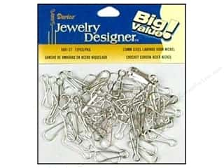 Darice Jewelry Designer Findings Lanyard Hook 23mm Nickel Plate 72pc