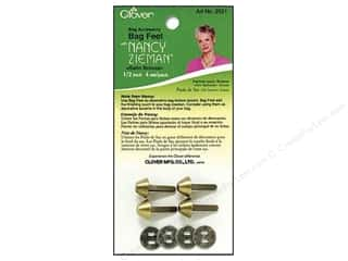 "Clover Bag Feet Zieman 1/2"" Satin Bronze 4pc"