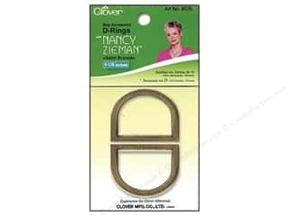 "Buckles d ring: Clover Zieman Bag D Ring 1 1/4"" Satin Bronze 2pc"