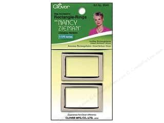 "Rings Clover Rings: Clover Zieman Bag Rectangle Ring 1 1/4"" Glossy Nickel 2pc"