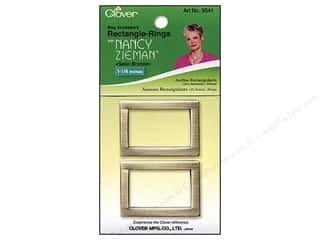 "Clover Zieman Bag Rectangle Ring 1 1/4"" Satin Bronze 2pc"