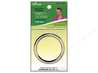 "2"" D rings: Clover Zieman Bag O Ring 1 5/8"" Glossy Nickel"