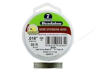 "7"" wire: Beadalon Bead Wire 7 Strand .018 in. Bright 30 ft."