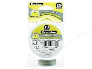 Clearance Blumenthal Favorite Findings: Beadalon Bead Wire 19 Strand .015 in. Satin Silver 30 ft.