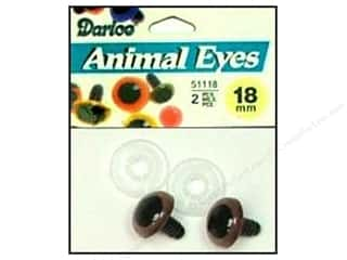 Darice Eyes Animal 18mm w/Washer Brown 2pc