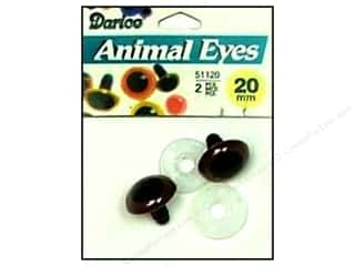 Darice Eyes Animal 20mm w/Washer Brown 2pc