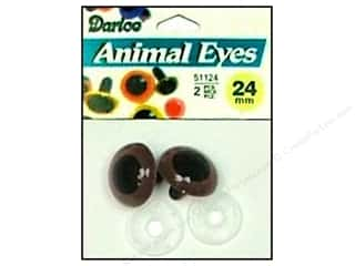 Darice Eyes Animal 24mm w/Washer Brown 2pc
