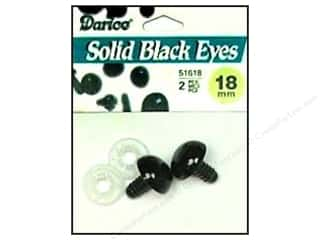 Darice Eyes Animal Solid 18mm w/Washer Black 2pc