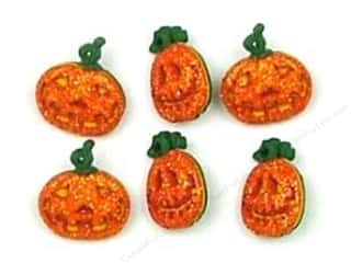 Halloween Size: Jesse James Dress It Up Embellishments Button Halloween Collection Glitter Pumpkins