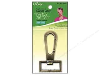 "Hardware Hardware Clasps: Clover Bag Latch Zieman Swivel 1 1/4"" Satin Bronze"