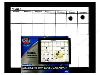The Board Dudes Dry Erase Calendar 18 x 22 in. Black