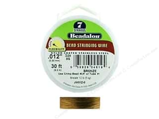 Beadalon Bead Wire 7 Strand .012&quot; Bronze 30&#39;