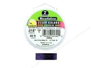 Beadalon Bead Wire 7 Strand .015&quot; Clear Purpl 30&#39;