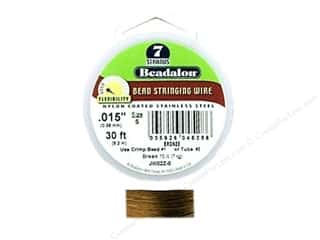 steel wire: Beadalon Bead Wire 7 Strand .015&quot; Bronze 30&#39;